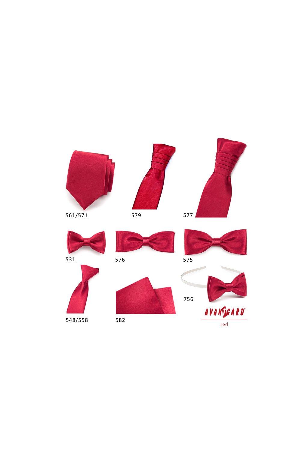 bed5b239faa Lesklá červená pánská svatební kravata s kapesníčkem