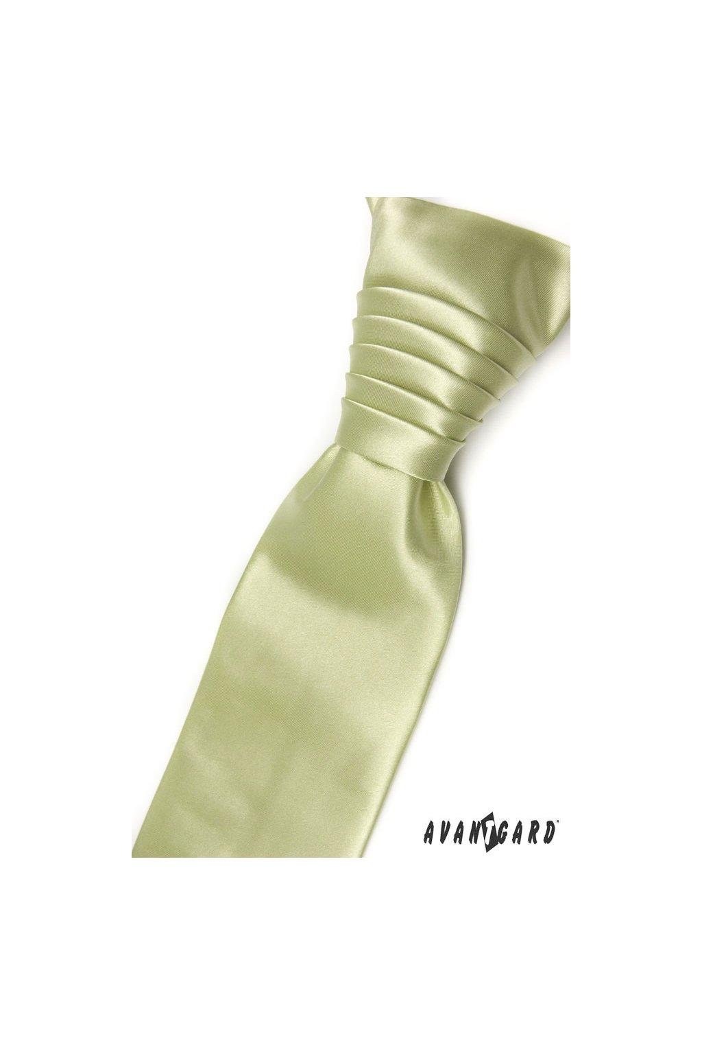 Limetková svatební kravata