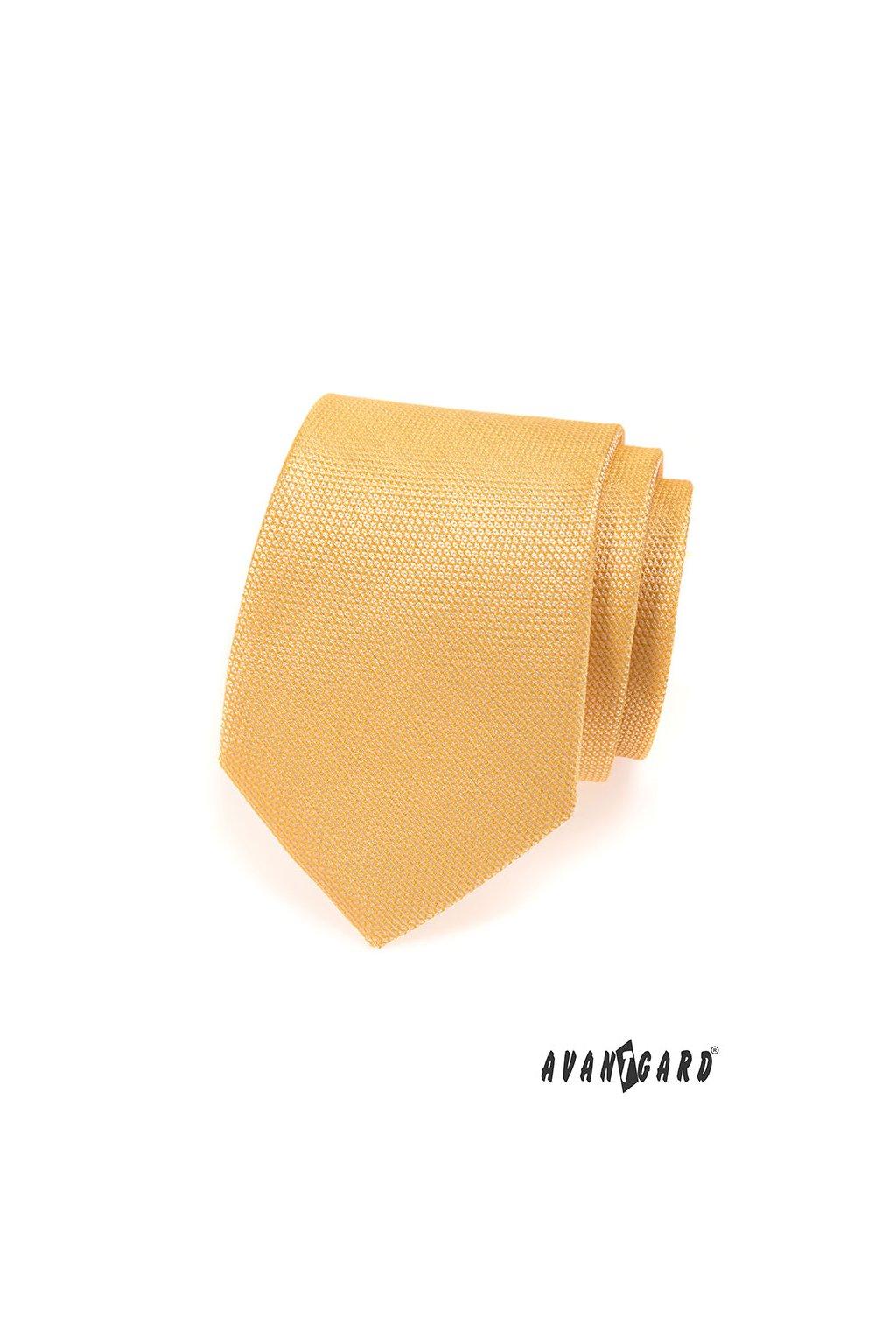 Žlutá kravata s nádechem do zlata