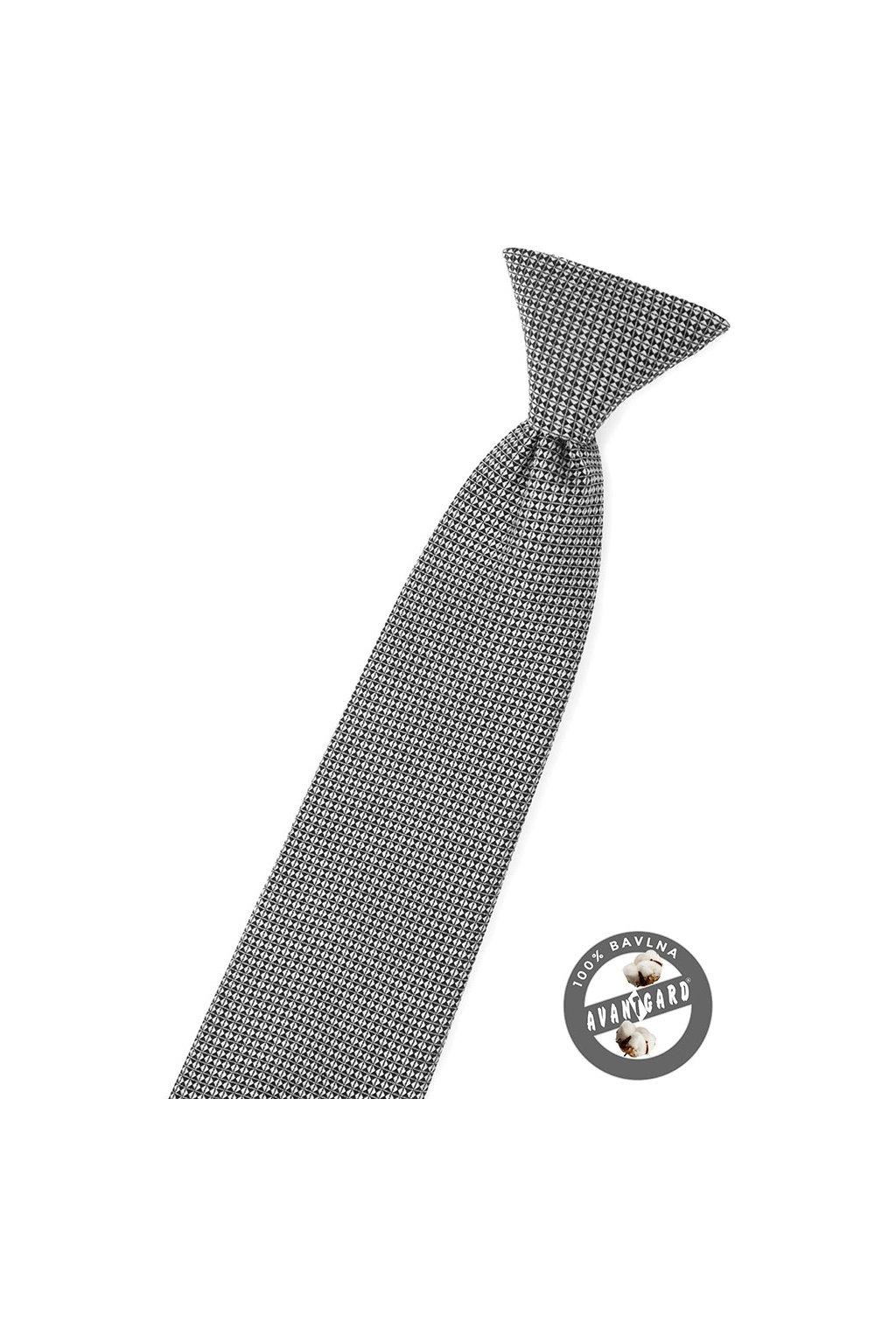 Šedo-černá dětská kravata