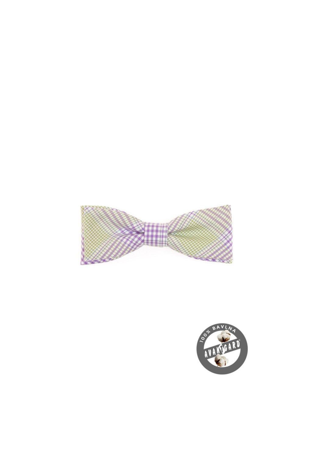 Bavlněný fialovo-zelený motýlek