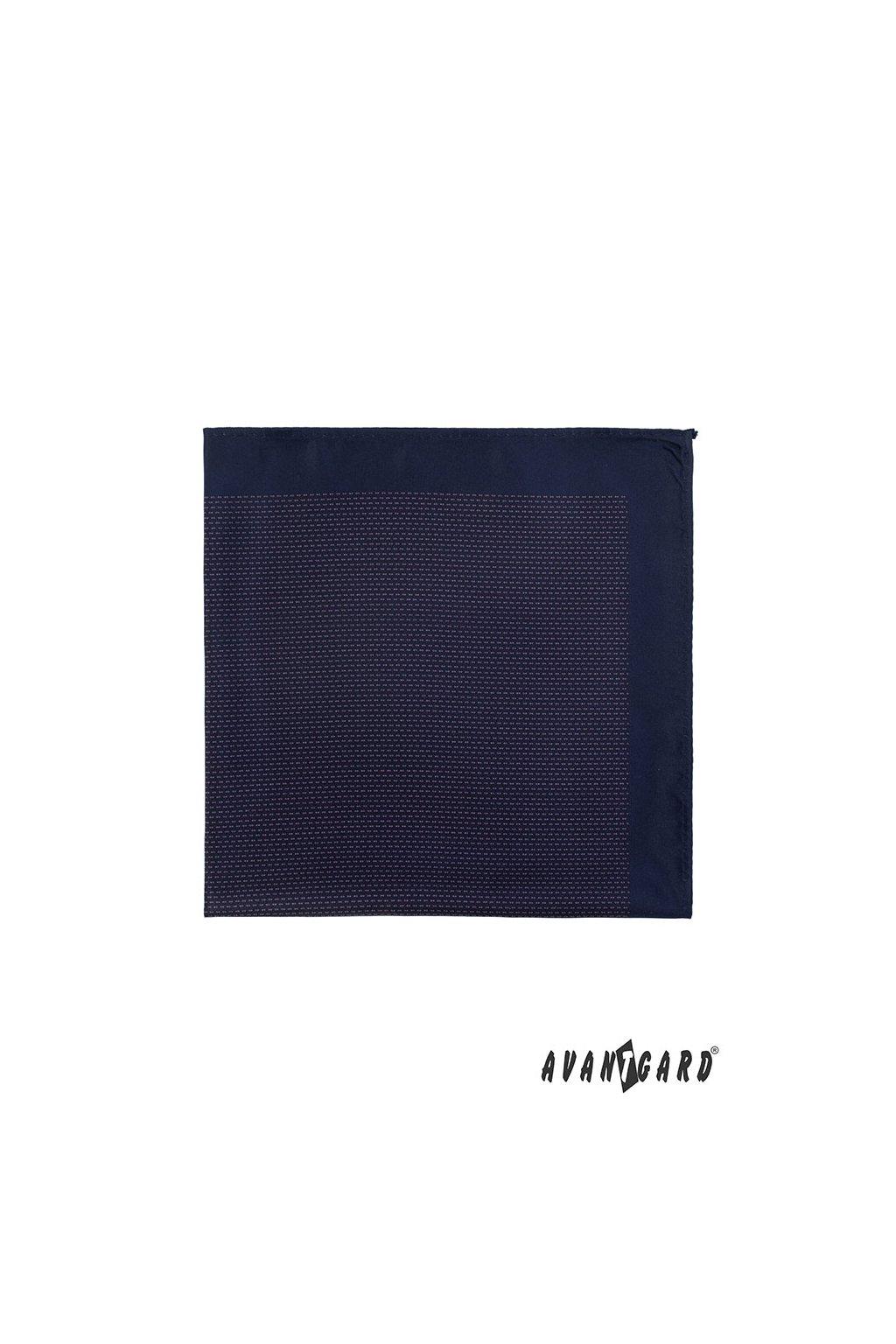 Tmavě modrý kapesníček do saka – decentní vzor