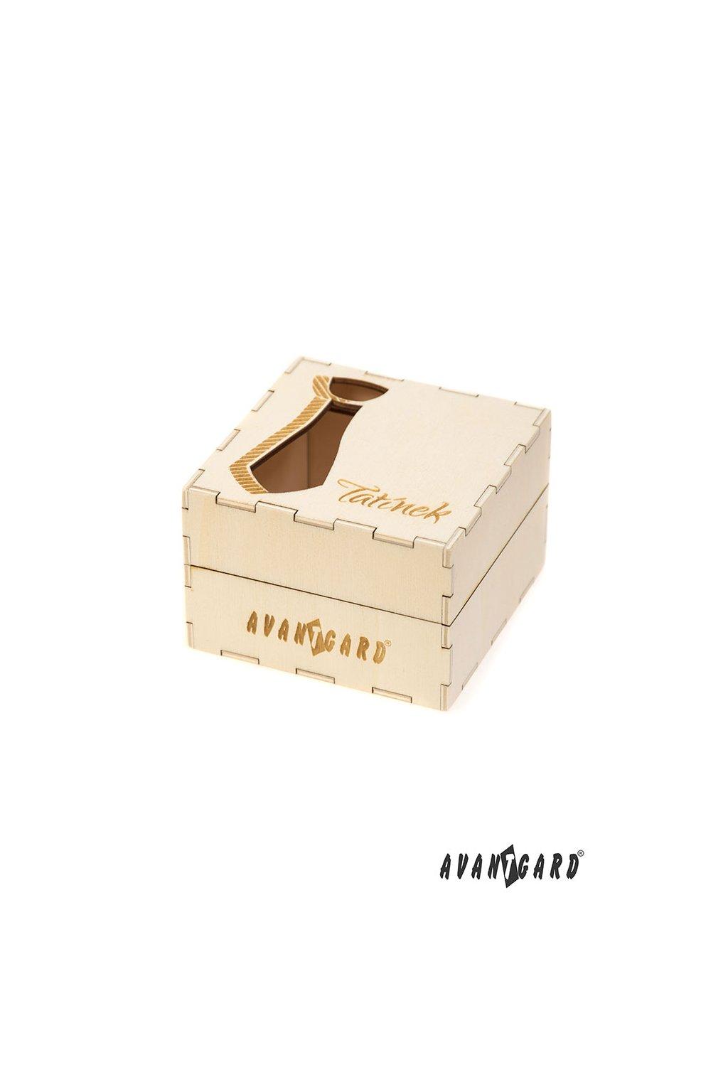 Dřevěná dárková krabička na kravatu – Tatínek