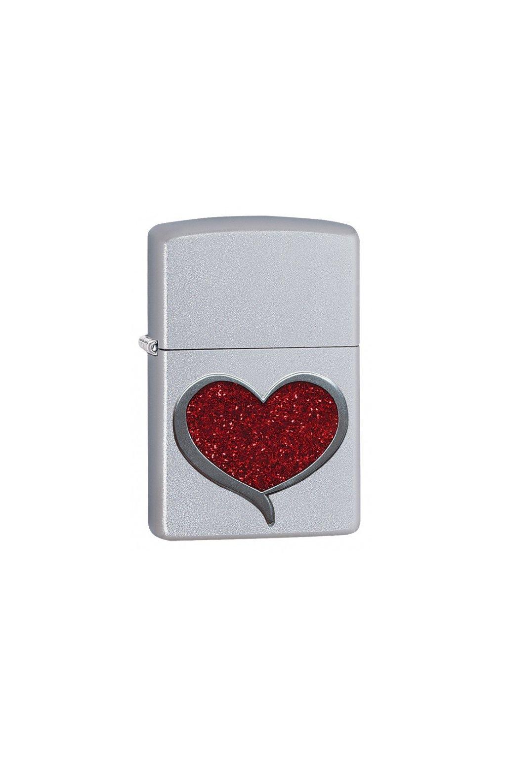 92750 zippo zapalovac 20042 glitter heart