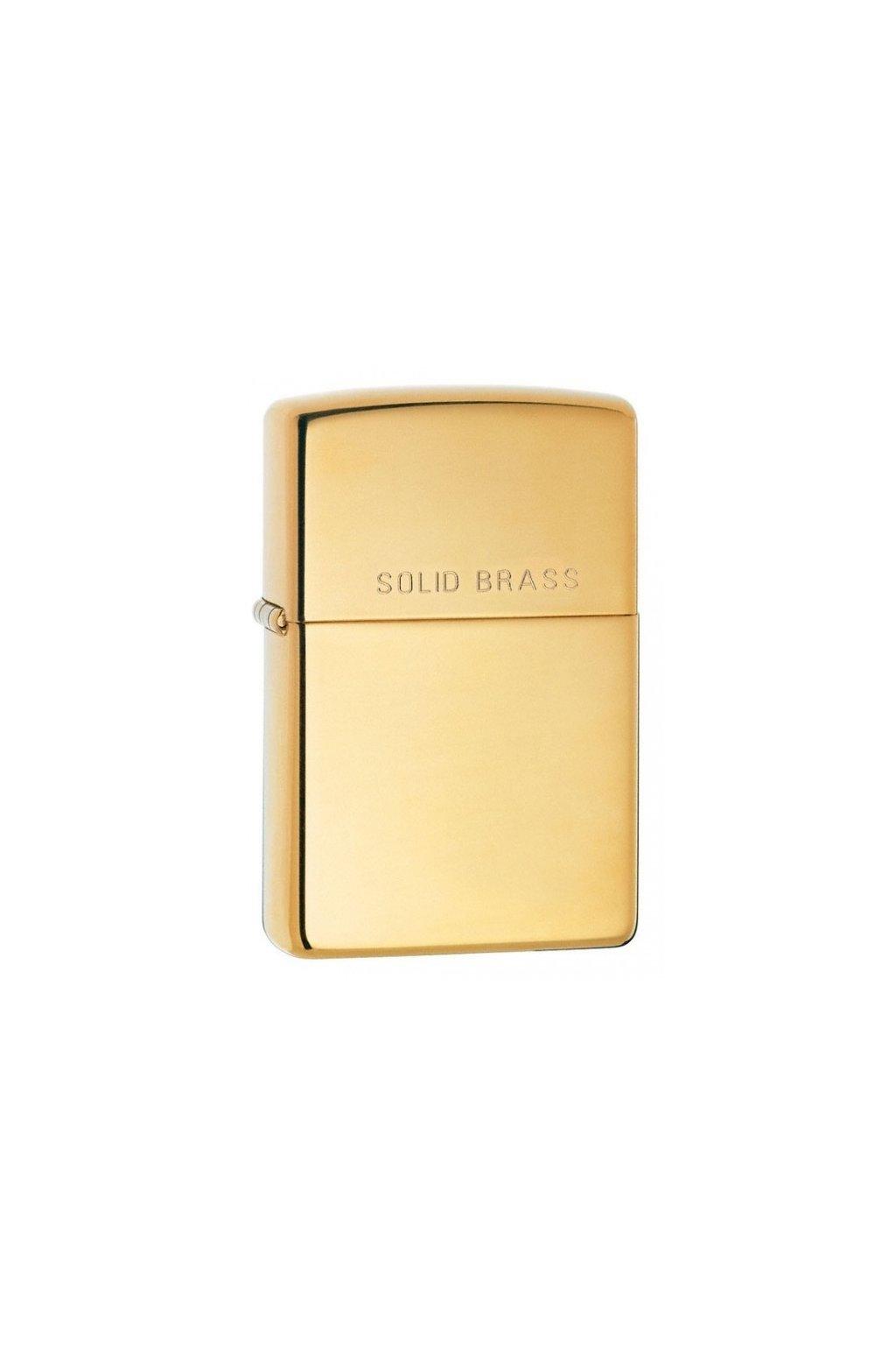 93509 zippo zapalovac 24001 solid brass