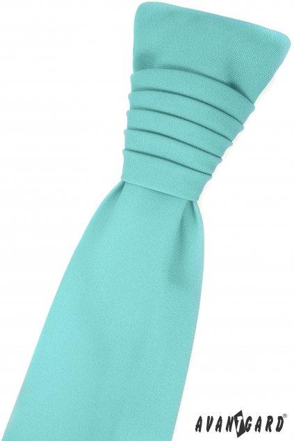 Mátová svatební kravata s kapesníčkem