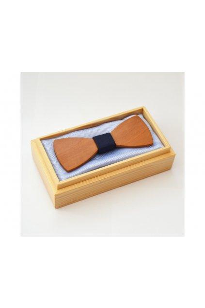 Dřevěný motýlek CLASSIC STANDARD - HRUŠKA