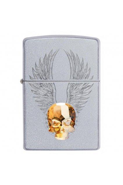 110876 zippo zapalovac 20443 gold skull design