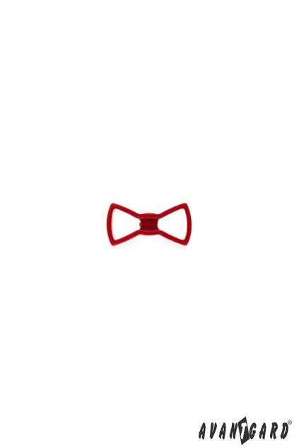 Červený špendlík do klopy - motýlek