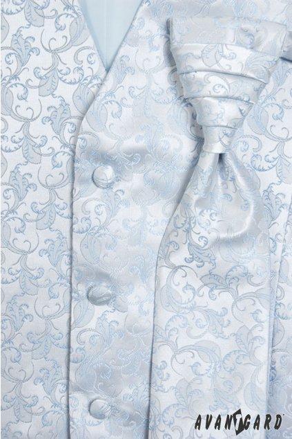 Modrá vesta + regata + kapesníček