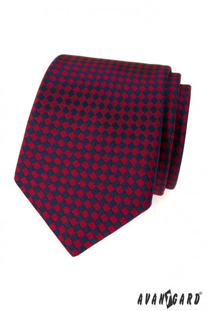 Vínovo-modrá kravata