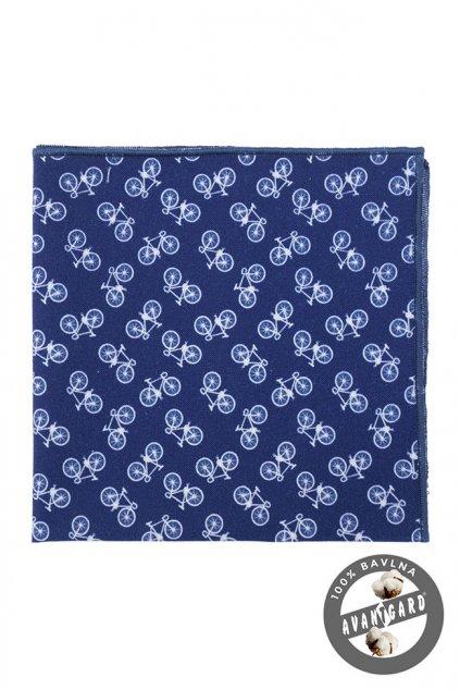 Modrý kapesníček se vzorem