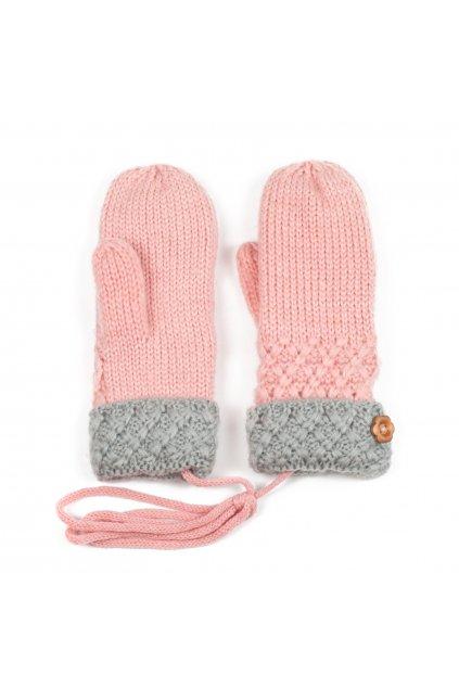 Pletené rukavice palčáky
