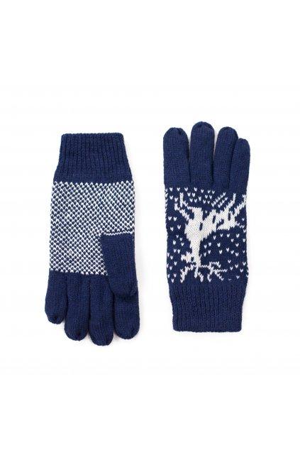Vlněné rukavice, zimní vzor
