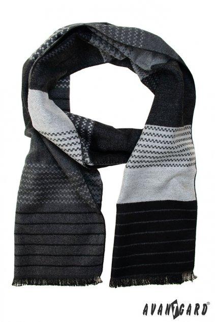 Černá vzorovaná šála