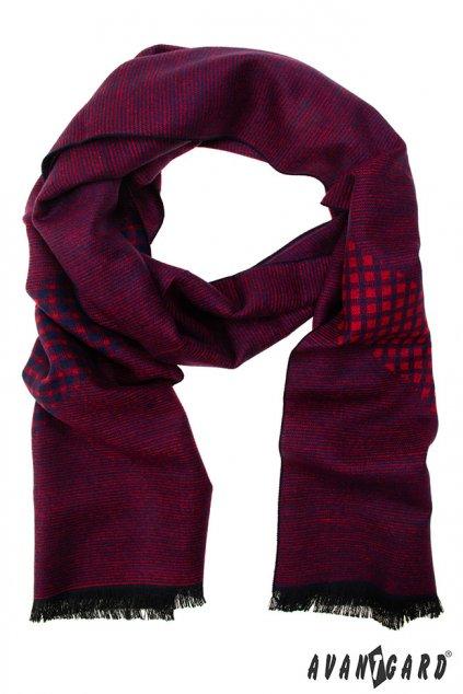 Červená vzorovaná šála