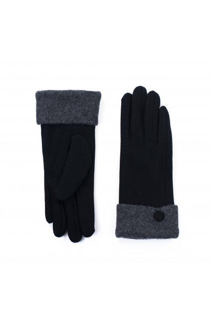 Bavlněné černo-šedé rukavice
