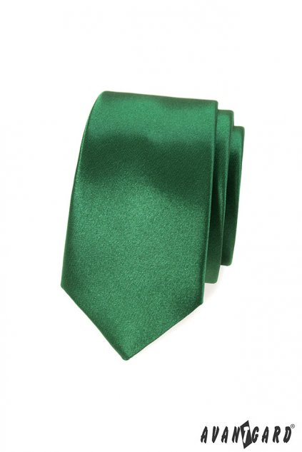 Zelená slim kravata