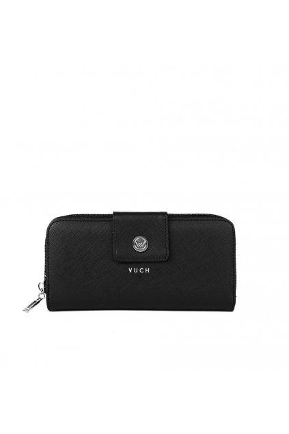 VUCH Dámská černá peněženka ze syntetické kůže No Dots Collection - VALI
