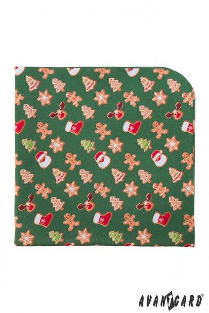 Zelený vánoční kapesníček