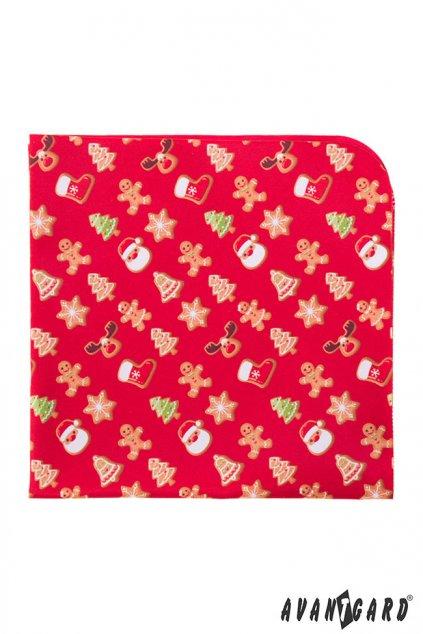 Červený vánoční kapesníček