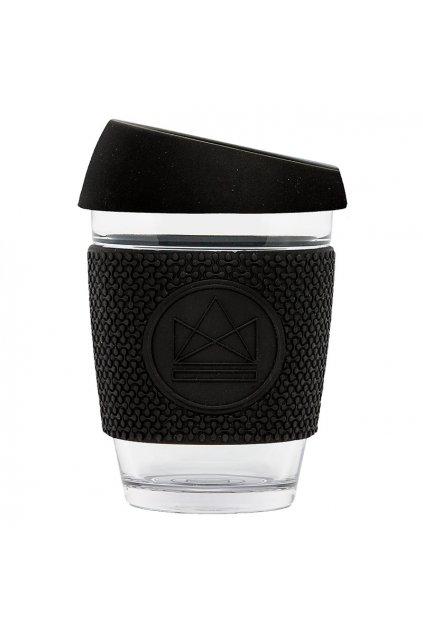 Skleněný hrnek na kávu, M, 340 ml, Neon Kactus, černý