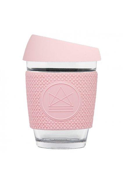 Skleněný hrnek na kávu, M, 340 ml, Neon Kactus, růžový