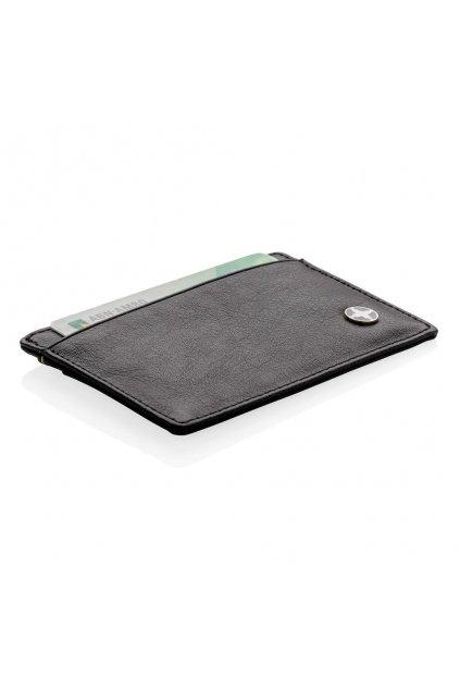 Pouzdro na karty a bankovky se systémem RFID, Swiss Peak, černé