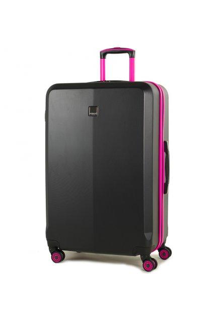 Cestovní kufr MEMBER'S TR-0150/3-L ABS - černá/růžová