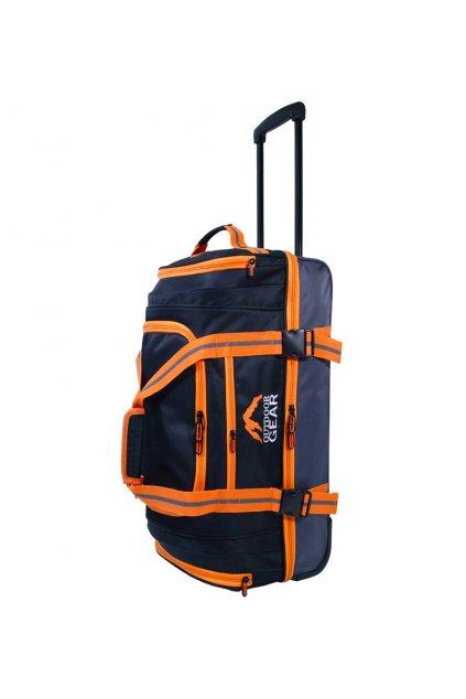 """Cestovní taška na kolečkách GEAR T-805/26"""" - černá/oranžová"""