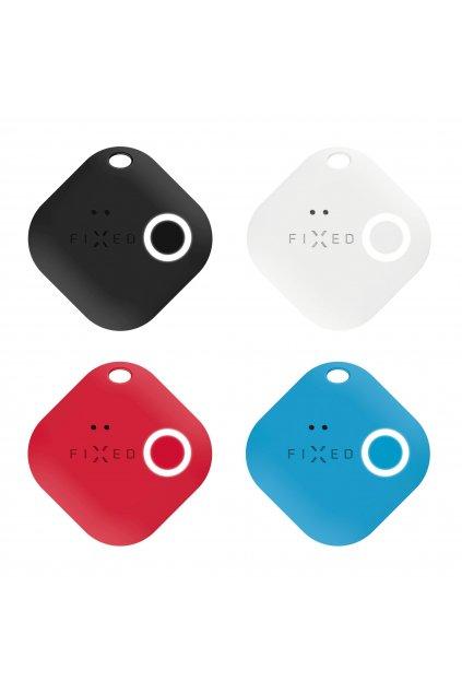 Smart tracker FIXED Smile s motion senzorem, 4-PACK, černý, bílý, červený, modrý