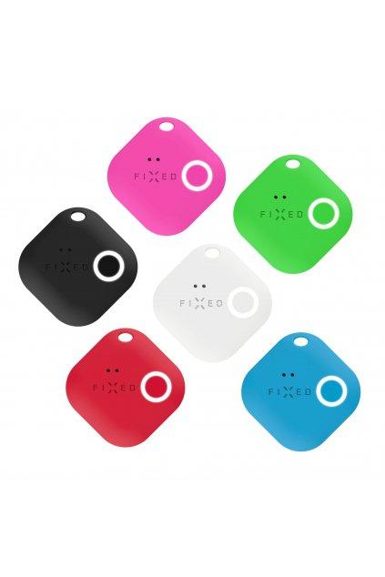 Smart tracker FIXED Smile s motion senzorem, 6-PACK, černý, bílý, červený, modrý, zelený, růžový