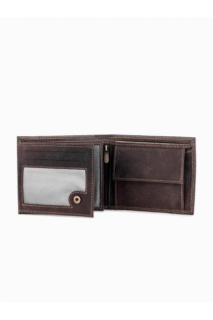 Hnědá kožená pánská peněženka A092