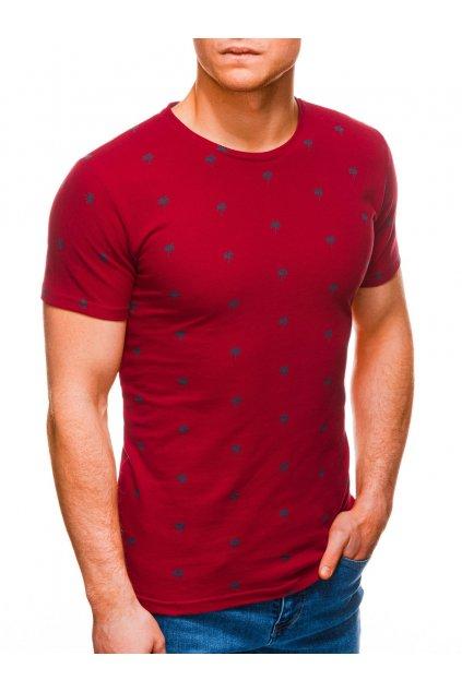 Pánské tričko s potiskem S1313 - červené