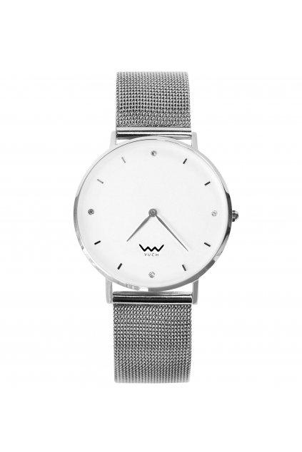 VUCH Dámské hodinky s bílým ciferníkem a nerezovým páskem Stars Collection - AUDREY