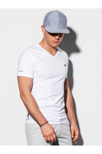 Bílé pánské tričko OMBRE - S1183