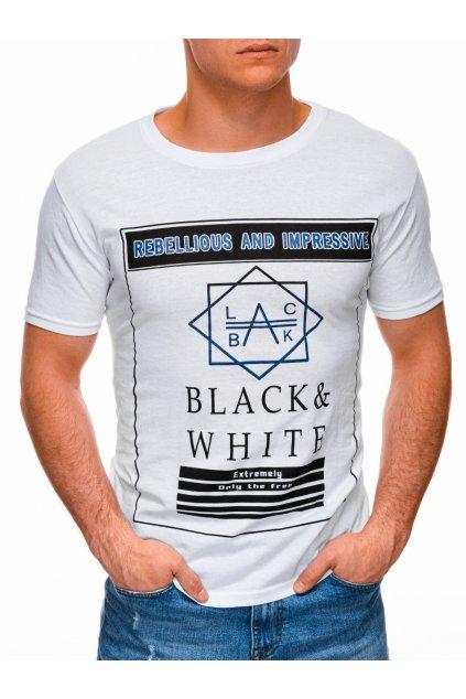 Pánské tričko s potiskem S1406 - bílá