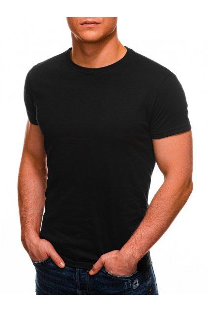 Černé tričko s krátkým rukávem S970