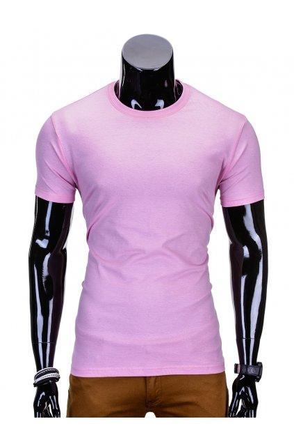 Růžové tričko s krátkým rukávem S970
