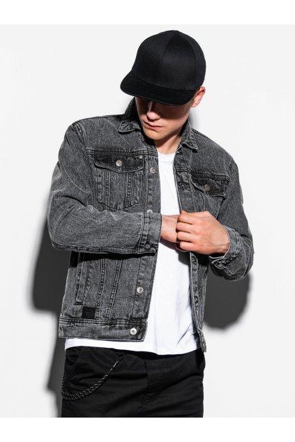 Pánská džínová bunda C441 - černý