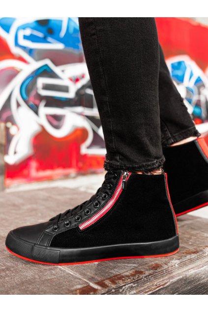 Pánské kotníkové boty T354 - černá