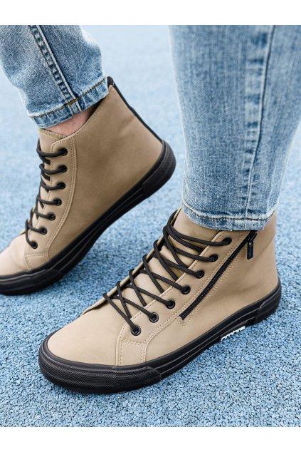 Pánské kotníkové boty T352 - béžová