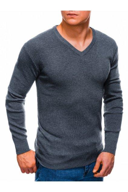 Tmavě šedý pánský svetr E159