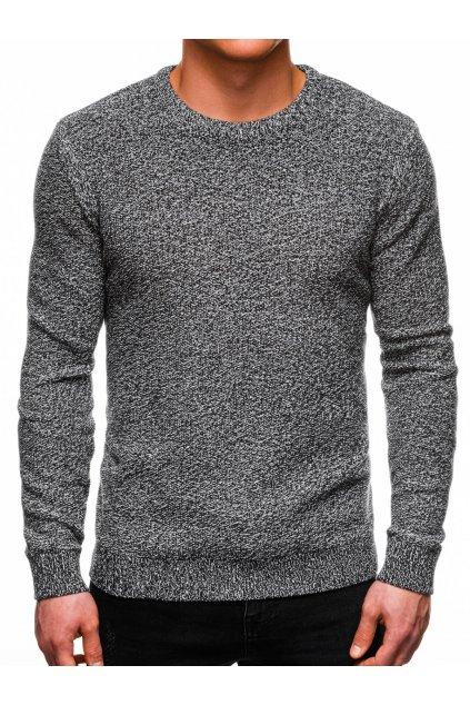 Tmavě šedý pánský svetr se zipem u krku E166