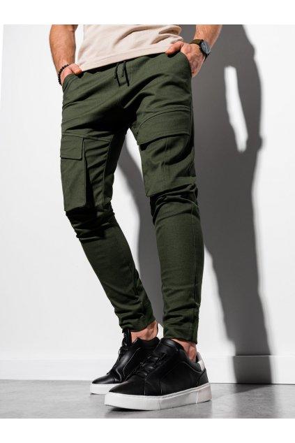 Pánské jogger kalhoty P999 - khaki