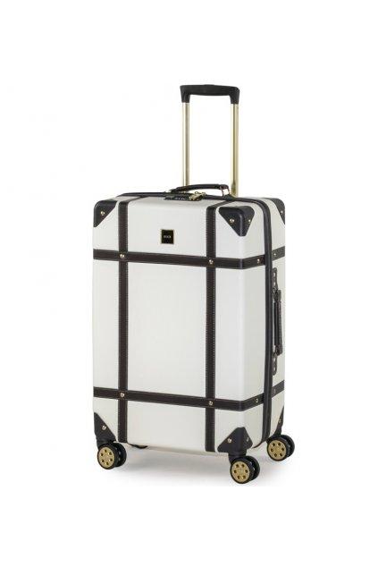 Cestovní kufr ROCK TR-0193/3-M ABS - krémová