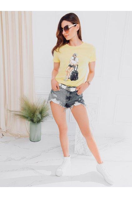 Pánské tričko s potiskem SLR010 - žlutá