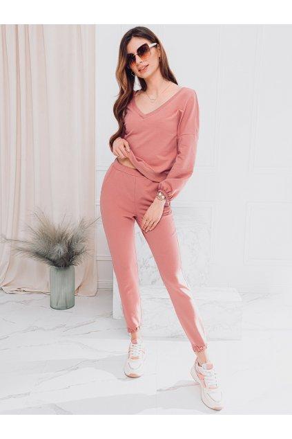 Women's set sweatshirt + pants ZLR006 - pink