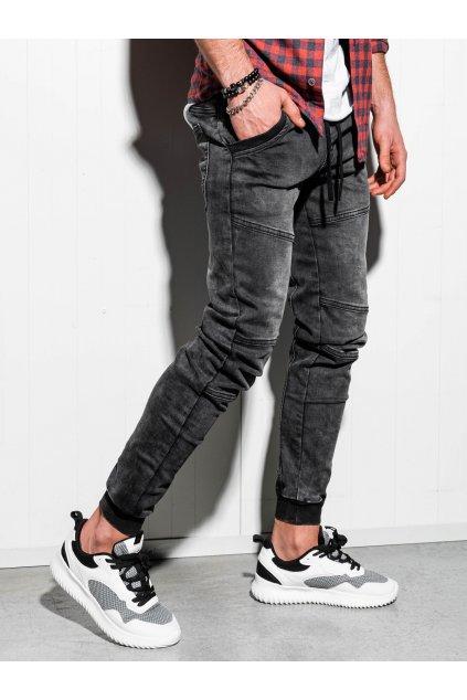 Pánské jogger jeans P551 - černá