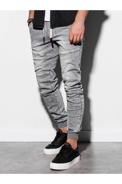 Pánské jogger jeans P551 - šedá
